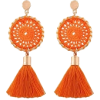 orange earrings - Earrings -