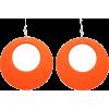orange earrings - イヤリング -