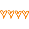 orange hearts - Texts -