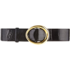 oscar de la renta BLACK SMALL OVAL ALLIG - Belt -