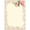 papier a lettre - frame with corner flor - Background -