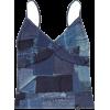 patchwork denim cami - Ärmellose shirts -
