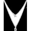 pearl drop silver necklace - Necklaces -