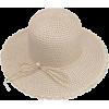 pearl straw hat - Šeširi -
