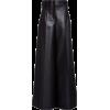 peter-do-black-high-rise-pleated-faux-le - Tajice -