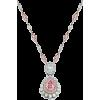 pink diamond necklace - Necklaces -