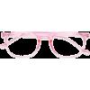 pink see through cute round glasses - Eyeglasses -