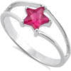 pink star ring - Obroči -
