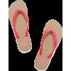 pink tory burch flip flop sandals - Japanke -