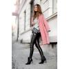pink wool coat street style - Ludzie (osoby) -
