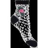 polka dot sheer socks - Uncategorized -