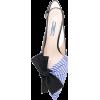 prada sandals blue/black/white - Sandals -