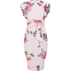 prettylittlething PINK FLORAL PRINT midi - Vestidos - £25.00  ~ 28.25€