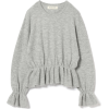 puff sleeve peppermint pullover - Pullovers -
