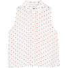 pullbear sleeveless polka dot shirt - Shirts - £9.99  ~ $13.14