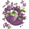 Purple Flowers With Umbrella  - Predmeti -