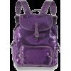 purple backpack - Plecaki -