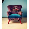 purple & blue floral velvet chair - Uncategorized -