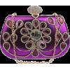 purple crystal clutch - Torbe z zaponko -