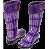 purple rain boots - Buty wysokie -