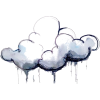 rainy cloud illustration - Illustrations -