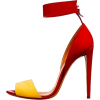 red and yellow heels - Sandálias -