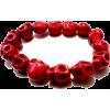 red skull bracelet  - Bracelets - $16.99  ~ £12.91