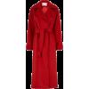 red Max Mara belted coat - Kurtka -