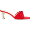 red Slide Heels - Sandals -