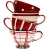red and white teacups - Furniture -