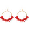 red coral earrings - Brincos -