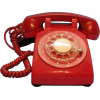 red desk rotary dial phone from 1964 - Items -