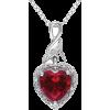 red diamond pendant necklace - Necklaces -