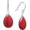 red earrings - Earrings -