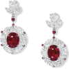 red earrings - Kolczyki -