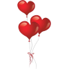 red heart balloons - Items -