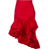 red high low skirt - Skirts -