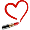 red lipstick heart - Cosmetics -