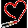 red lipstick heart - Cosmetica -