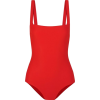 red one piece swimsuit - Swimsuit -