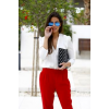 red pants - People -