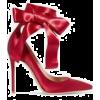 red satin pumps - Sandals -