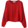 red sweater - Pullovers -