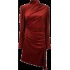 red velvet dress - Vestidos -