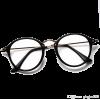 retro black frame glasses - 度付きメガネ -