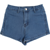 retro washed high waist shorts - Shorts - $25.99