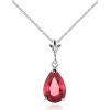 ruby and white gold pendant necklace - Ogrlice -