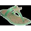 Sandals Green - Thongs -
