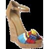 Sandals Colorful Wedges - Klinów -