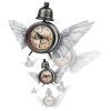 Clock With Wings - Ilustracije -